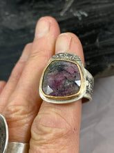 Load image into Gallery viewer, Sterling Silver and Gold fill Tourmaline Ring