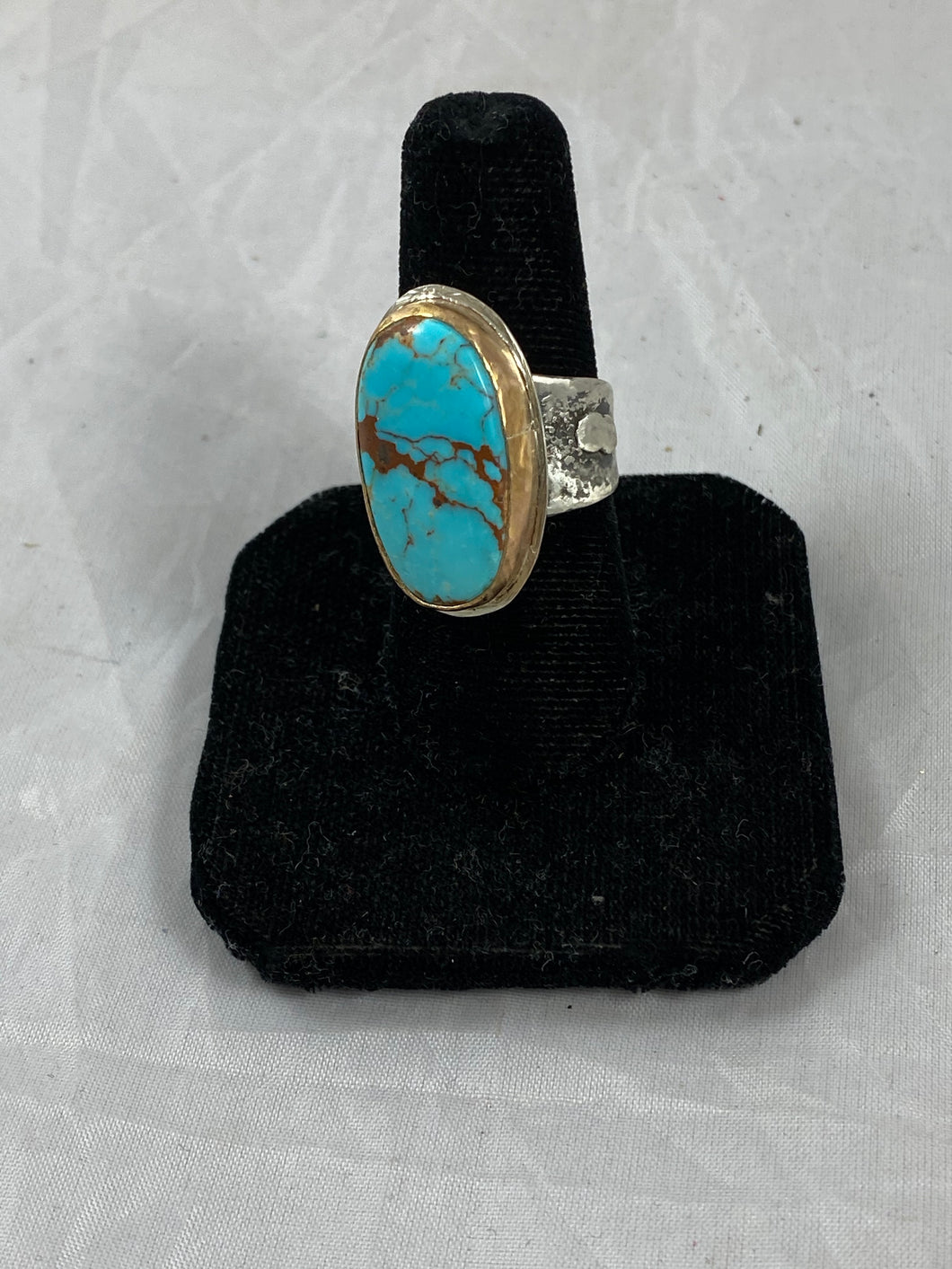 Old Compass Mine Turquoise Oval Ring
