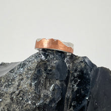 Load image into Gallery viewer, Copper & Sterling Silver Mountain Men's Ring - Mens / Unisex, made in Bend Oregon by Junk to Jems