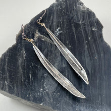 Load image into Gallery viewer, Curved Stemmed Icicle Sterling Silver Earrings