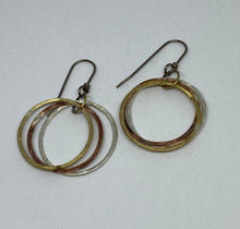 Load image into Gallery viewer, 3-metal Hoop Earrings