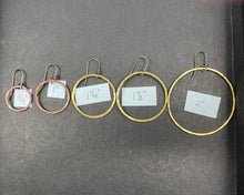 Load image into Gallery viewer, Single Hoops in Silver, Brass, or Copper