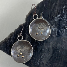 Load image into Gallery viewer, Handmade New Moon earrings, made in Bend Oregon by Junk to Jems