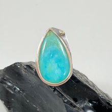 Load image into Gallery viewer, Peruvian Blue Opal Ring made in Bend Oregon by Junk to Jems