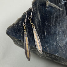 Load image into Gallery viewer, Silver & Gold Icicle Chain Dangle Earrings made in Bend Oregon by Junk to Jems