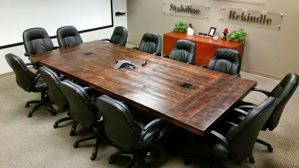 The Emerson Conference Table – Rustic Trades Furniture