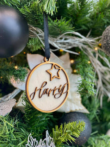 Personalised Cut Out Name Tree Decoration