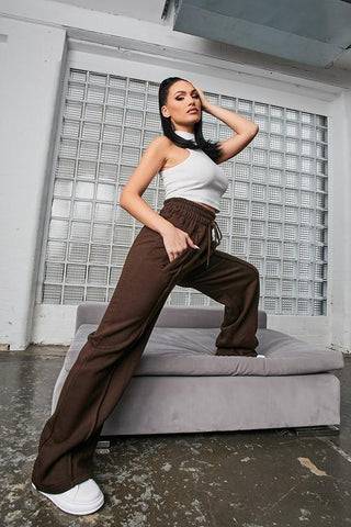 Brown-Wide-Leg-Joggers