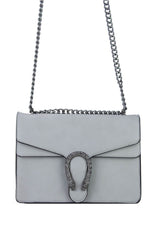 Avery Light Grey Statement Shoulder Bag-MREP