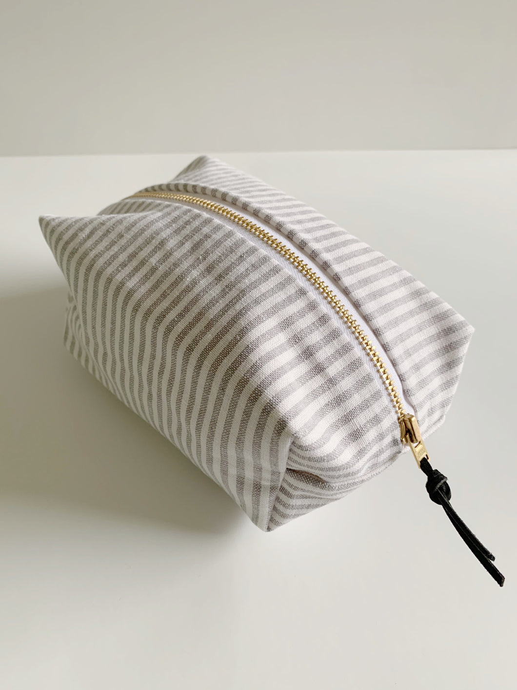 Box Bag | Grey Stripe