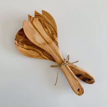 Load image into Gallery viewer, Olivewood Salad Serving Set