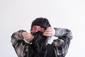 Pink Coco Scrunchie Large