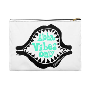 Accessory Pouch - shark- Aloha Vibes Only -