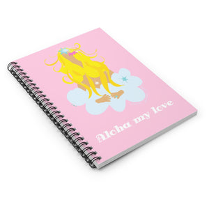 Spiral Notebook - Ruled Line / Aloha my love
