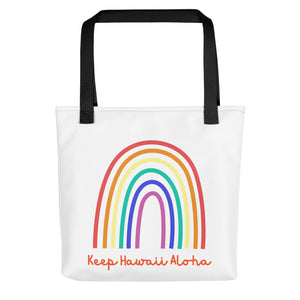 Tote bag Keep Hawaii Rainbow  レインボートート