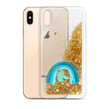 Load image into Gallery viewer, Liquid Glitter Phone Case Mermaid & Rainbow スマホケース マーメイド&レインボー
