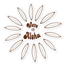 Load image into Gallery viewer, Bubble-free stickers  Surf aloha brown  ステッカー サーフアロハ ブラウン