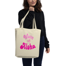 Load image into Gallery viewer, Eco Tote Bag (S)  wave of aloha pink アロハウエーブ ピンク トートバック