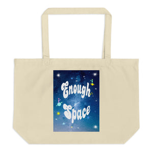 Large organic tote bag  Enough Space トートバック ユニバース(L)