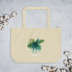 Large organic tote bag (L)  Green Hawaii