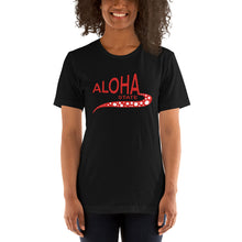 Load image into Gallery viewer, Short-Sleeve Unisex T-Shirt  Aloha state-red   ユニセックス  アロハステイト ドット