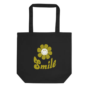 Eco Tote Bag Smile  light printed スマイル!トートバック(S)