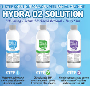 ÉCLAT Hydra O2 Solution for Silky Hydra Peel- All Three 3 Steps