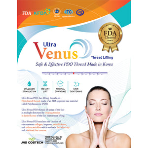 Ultra Venus PDO Face Lifting Threads FDA Cleared 20 pcs [Cog Blunt]