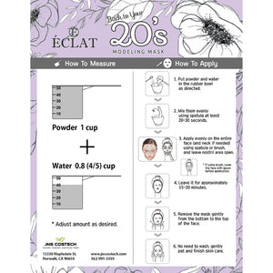 Eclat 20's Modeling Peel off Facial Mask Powder- Collagen