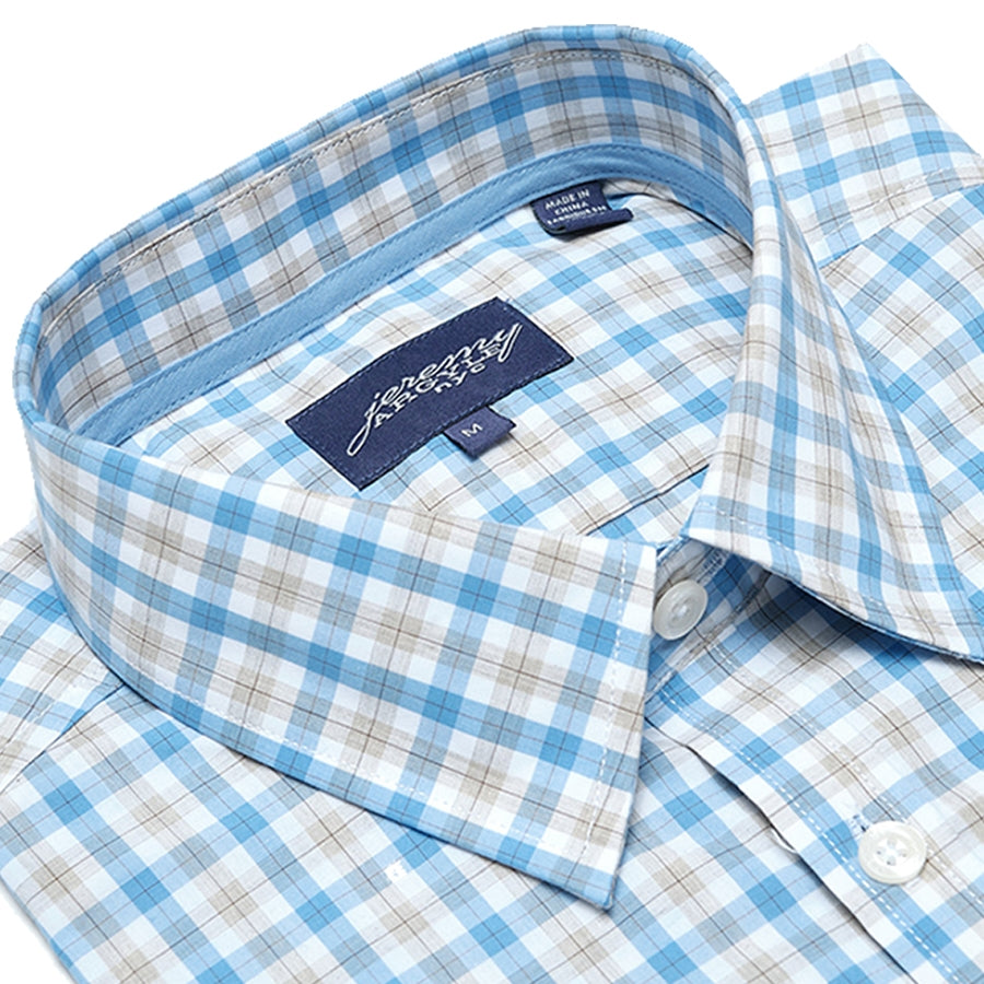Saratoga Light Blue and Tan Plaid