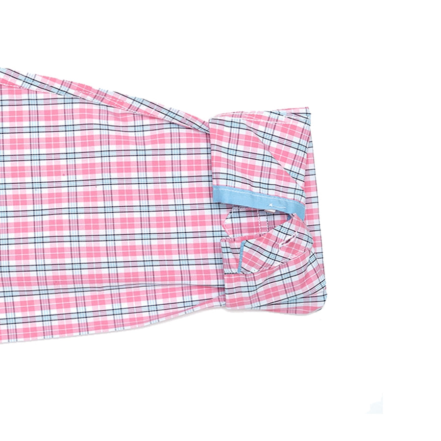 Bowery Pink and Light Blue Plaid