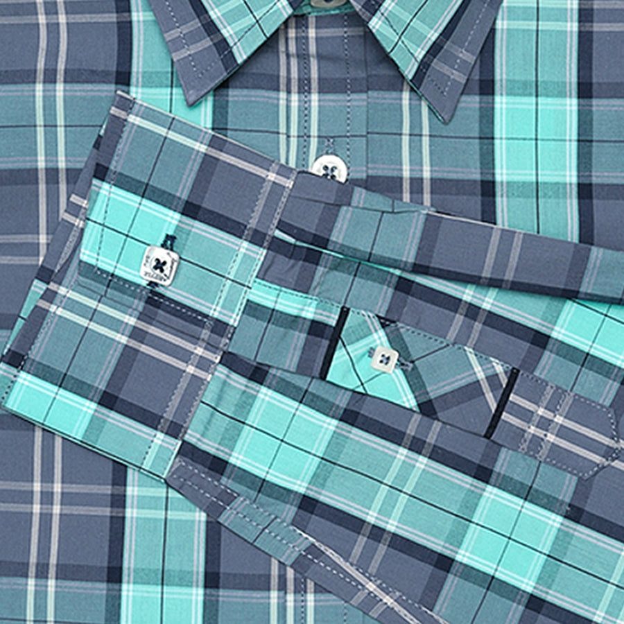 Bleecker Green and Navy Plaid