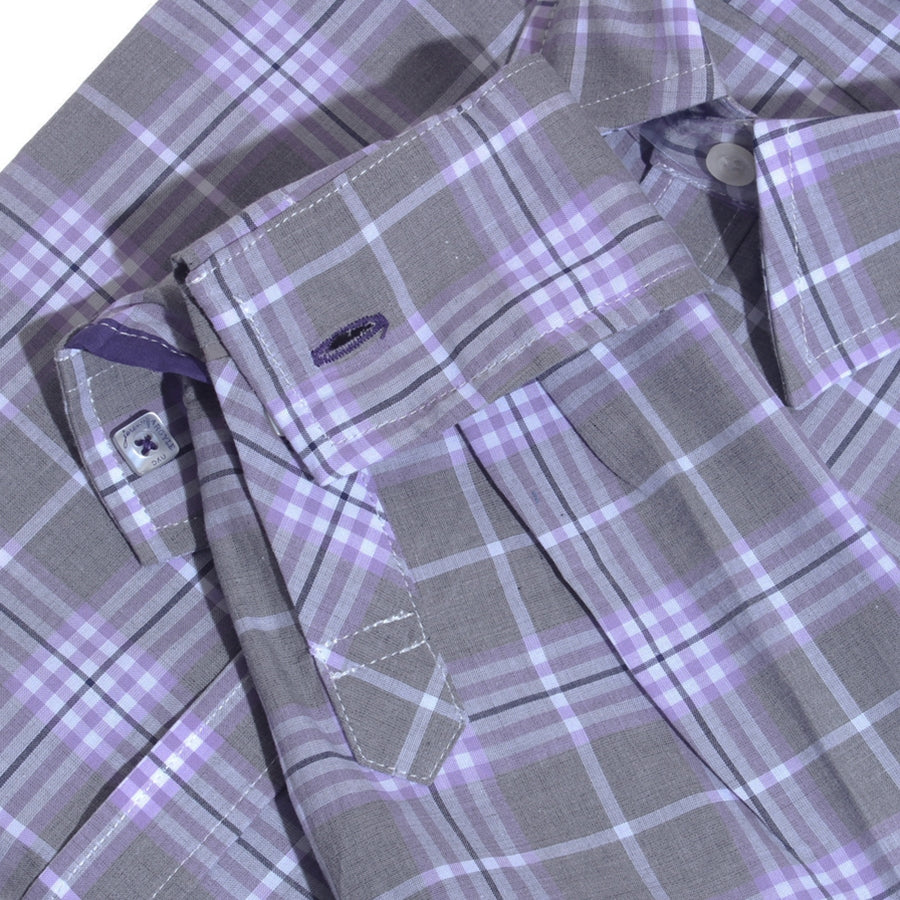 Scottsdale Purple and Gray Plaid
