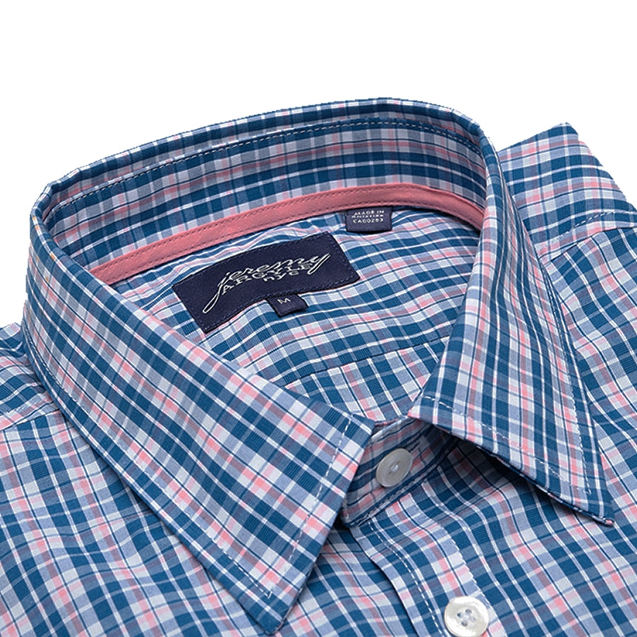 Carmine Blue and Coral Plaid