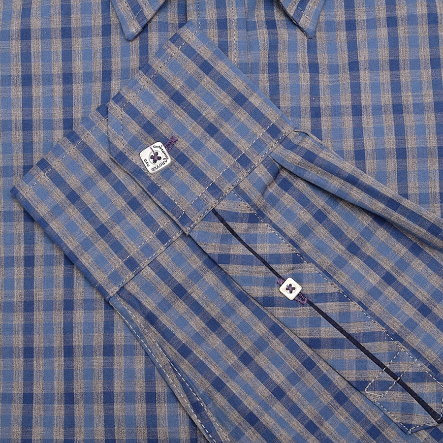 Ludlow Blue and Gray Check