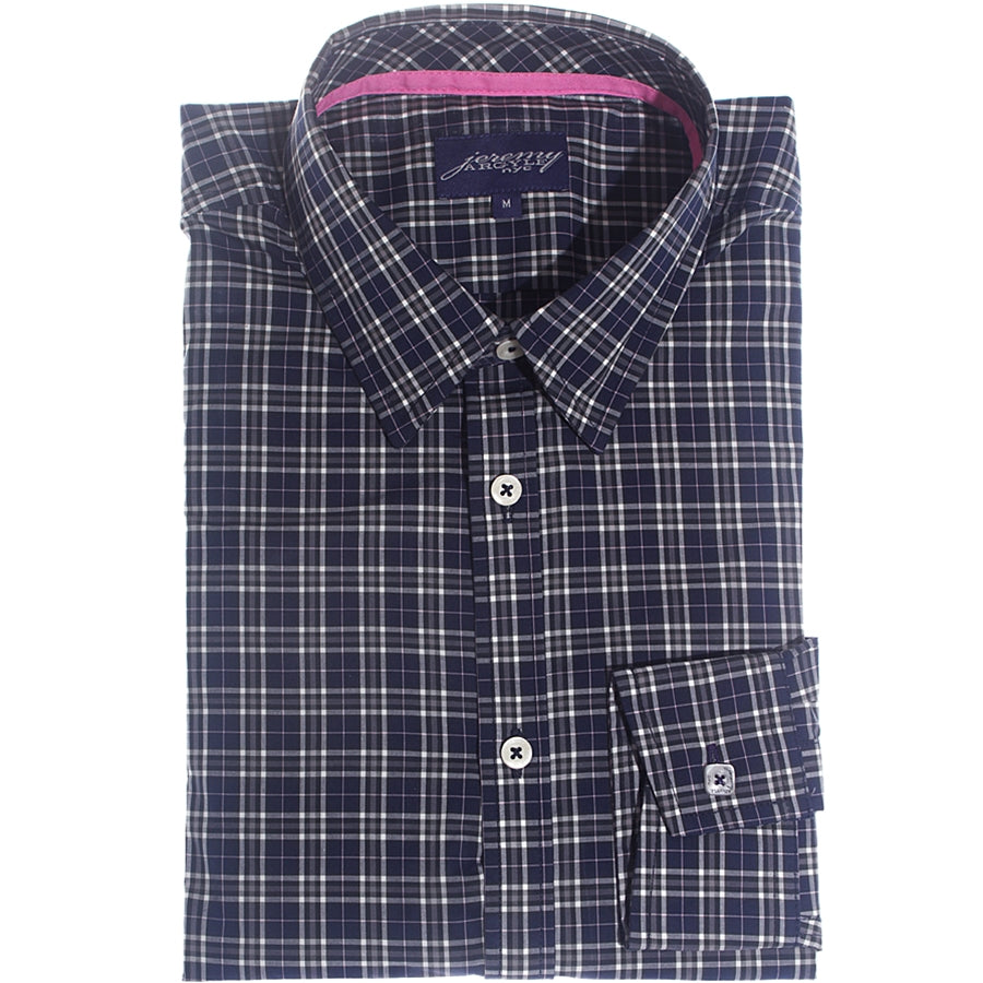 Darien Navy Plaid