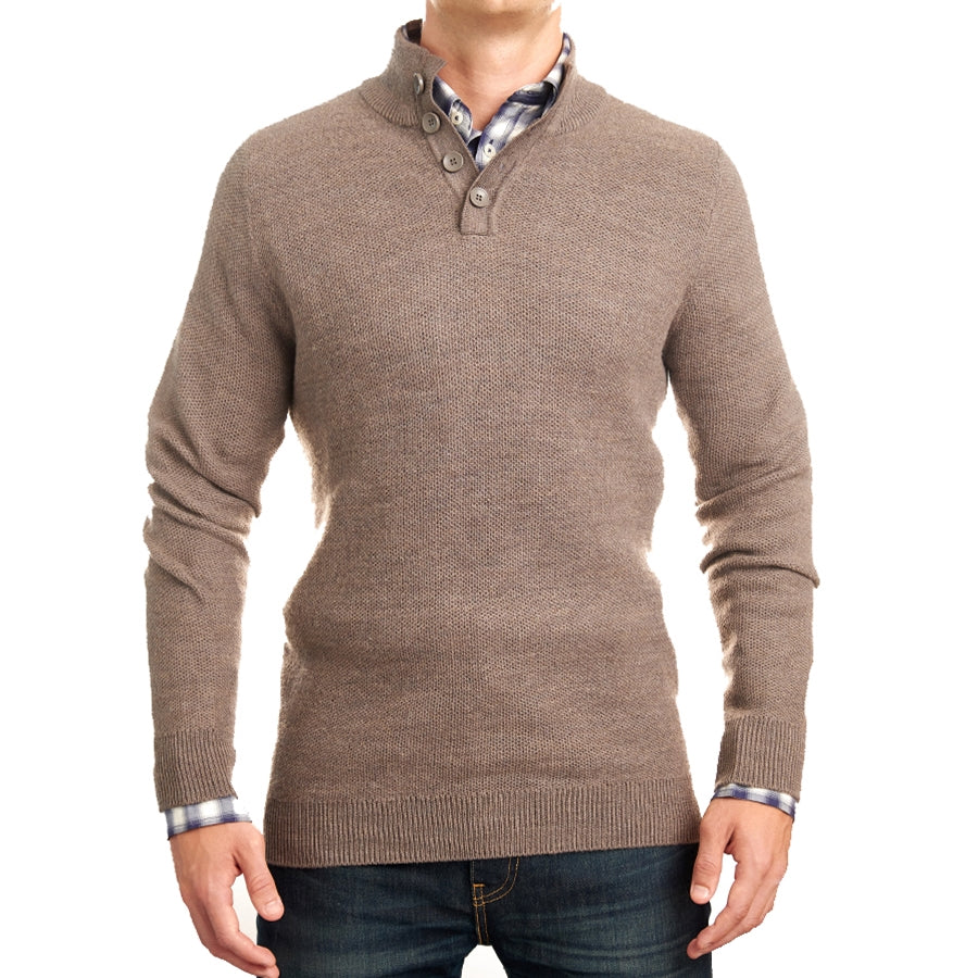 Light Brown Mock Neck