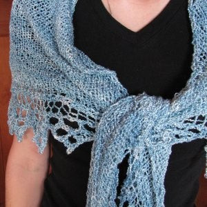 Simple Knit Triangle Shawl