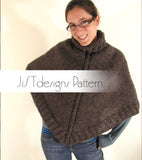 Turtleneck Poncho Knitting Pattern