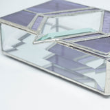 Purple Lover's Stained Glass Jewelry Box