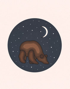 """Bear: Moonlight Series"" Print"