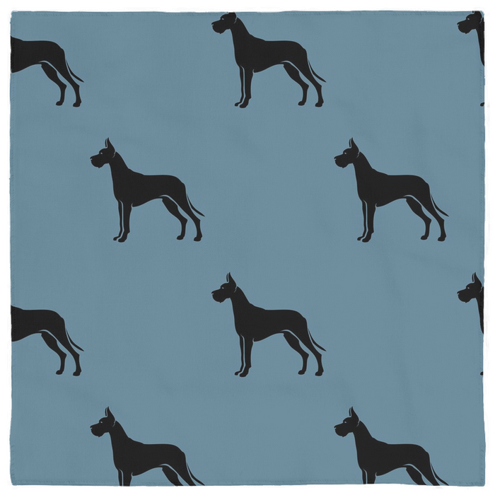 Great Dane Coffee Company Icon Pet Bandana, Steel Blue
