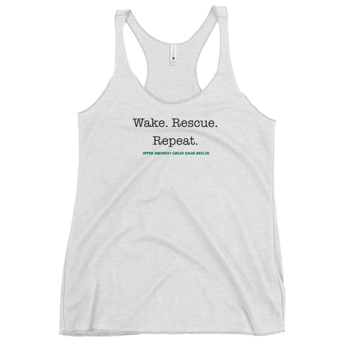 Wake. Rescue. Repeat. — Women's Racerback Tank