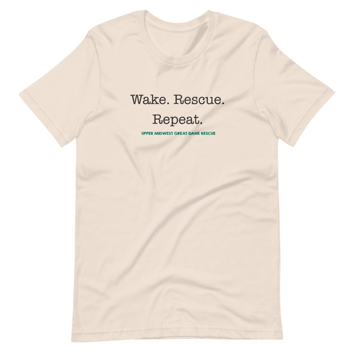 Wake. Rescue. Repeat. — Short-Sleeve Unisex T-Shirt