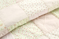 Pink Fairy 100% Cotton Twin-size Quilt Set