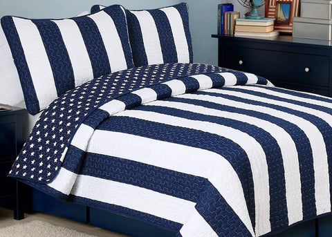 Ameristar Sailor Reversible Cotton Quilt Set
