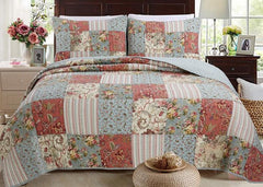 Eleanor Patchwork Reversible Cotton Quilt Set