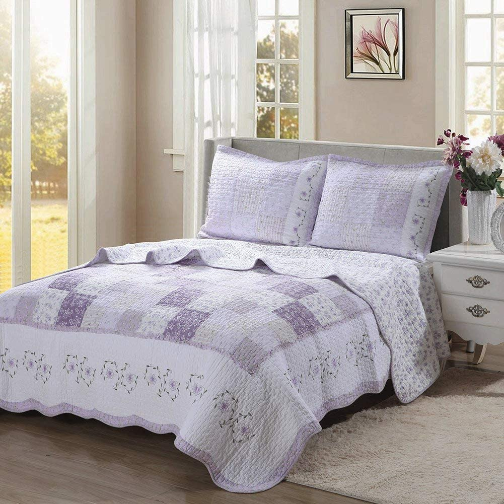 Love of Lilac 100% Cotton 3-Piece Quilt Set