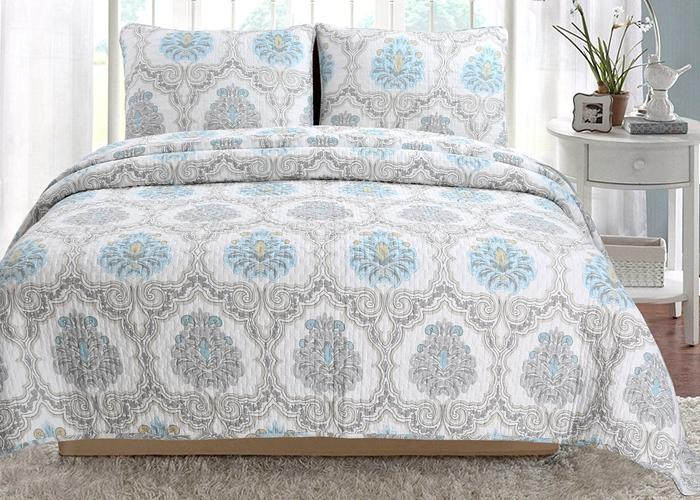 Pylle Hill Floral Reversible Cotton 3-Piece Quilt Set