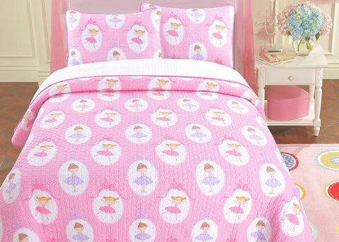 Ballerina Dance Cotton Quilt Set